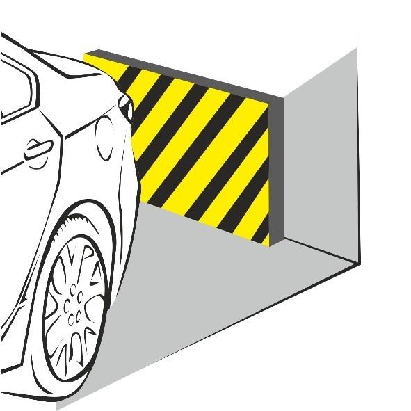 Настенный отбойник (мат) для защиты автомобиля. Толщина 38 мм. Размер 330х250 мм