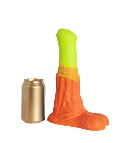 Оранжево-жёлтый фаллоимитатор  Пегас Large+  - 26,5 см.
