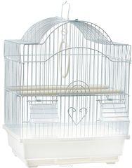 N1 Клетка для птиц 30*23*39 белая ДКпА 113