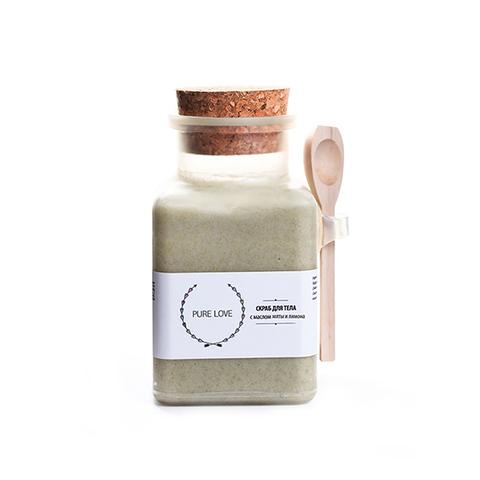 Скраб для тела соляной с маслом мяты и лимона, 150 гр, 150гр.