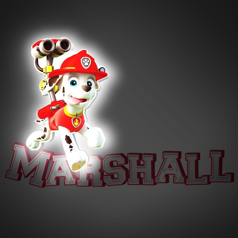 Маршал 3D-светильник мини Щенячий патруль