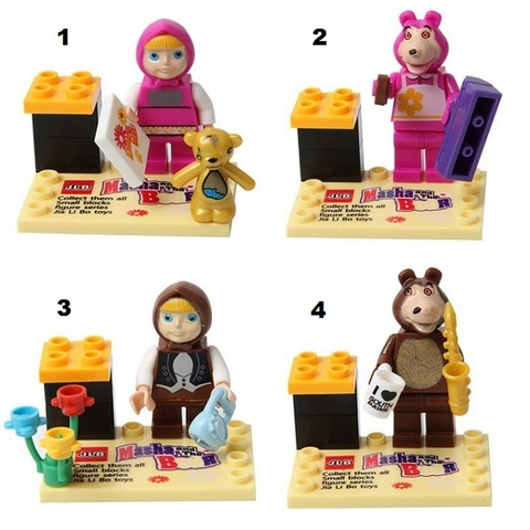 Minifigures Masha & The Bear Blocks Building