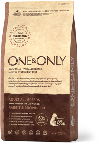 Сухой корм One&Only Rabbit & Brown Rice All Breeds