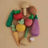 Набор деревянных овощей