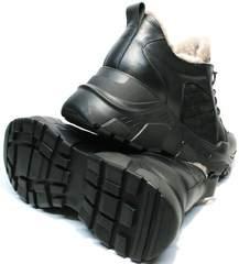 Зимние повседневные кроссовки черные женские на толстой подошве Studio27 547c All Black.