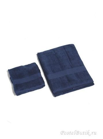 Полотенце 60х110 Mirabello Microcotton синее