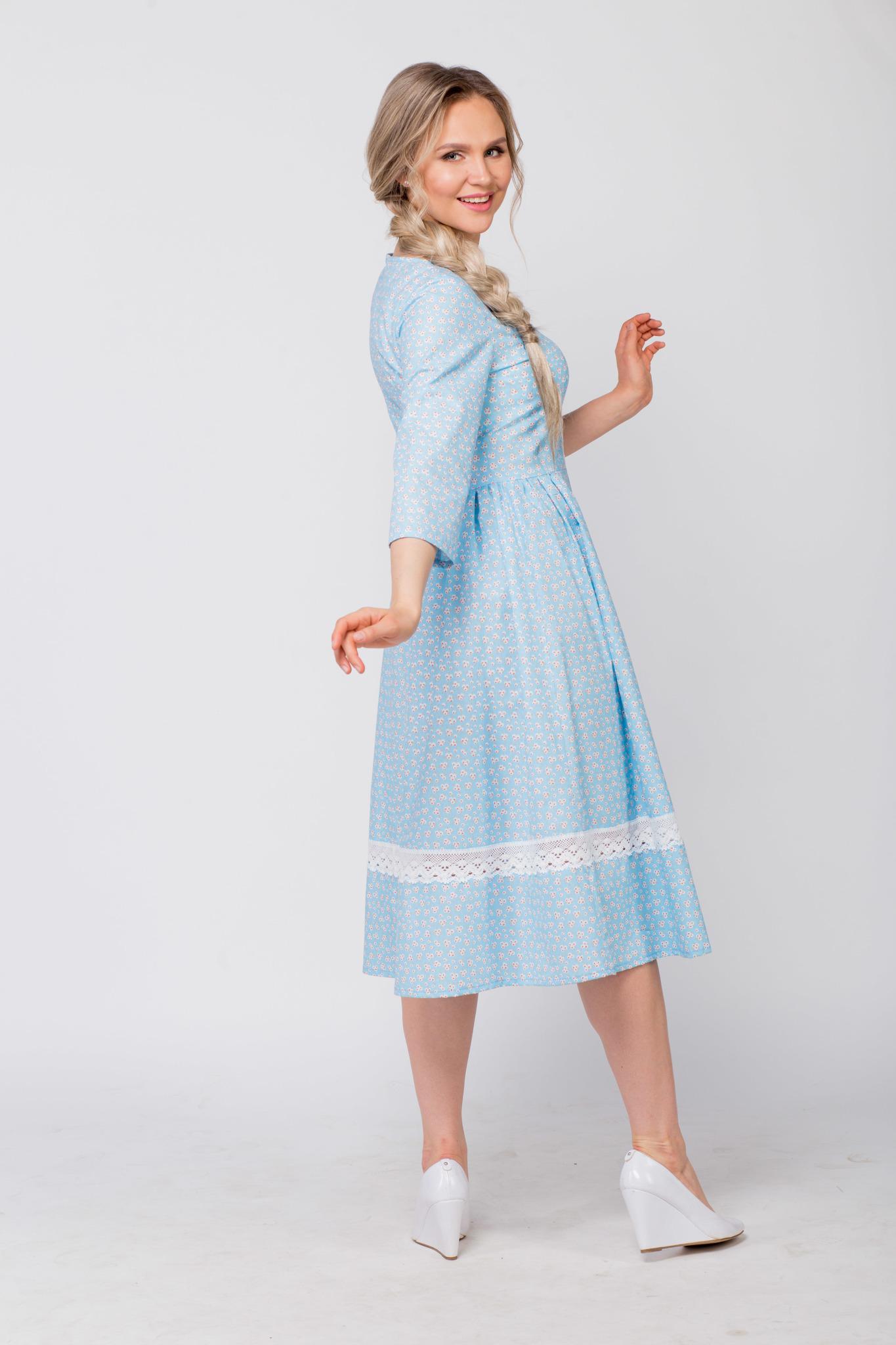 Платье хлопковое Кружевные маргаритки в интернет-магазине