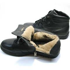 Ботинки с мехом мужские Ikoc 1608-1 Sport Black.