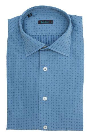 Голубая рубашка с синим геометрическим узором