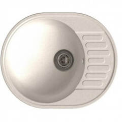 Мойка GranFest (ГранФест) 580 ЕСО-58 для кухни из искусственного камня, белый