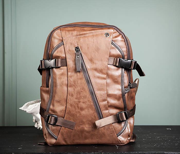 BAG483-2 Повседневный мужской кожаный рюкзак фото 01