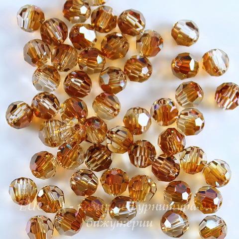 5000 Бусина - шарик с огранкой Сваровски Crystal Copper 4 мм, 5 штук