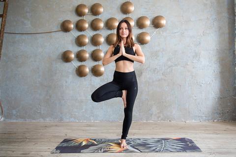 Коврик для йоги Джунгли 183*61*3,5мм из микрофибры и каучука