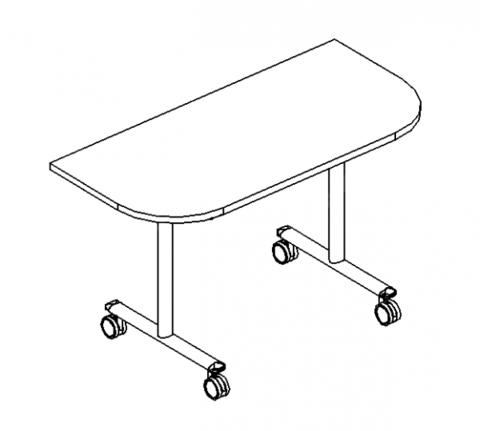 Стол приставной складной A4