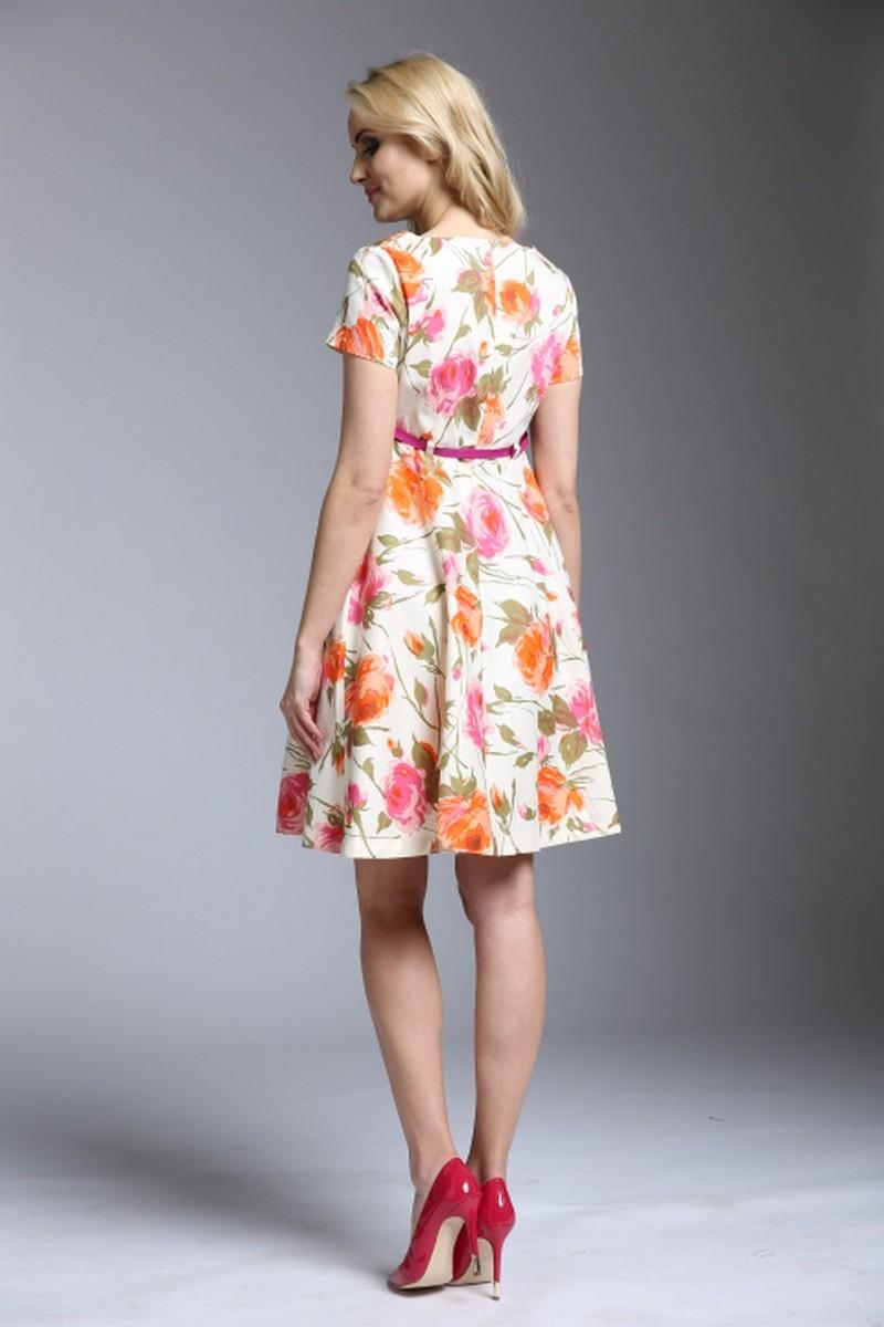 Платье 09273 цветы