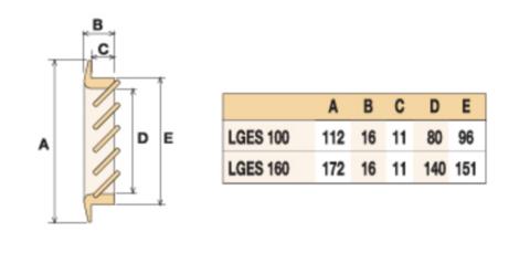 Деревянная решетка First LGES100F бук 100х100