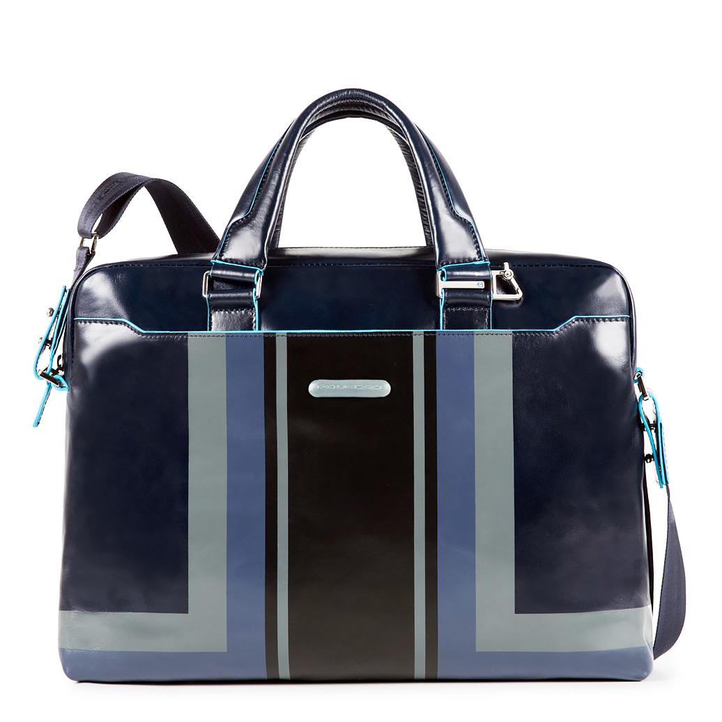 Сумка Piquadro Blue Square, цвет синий, 38,5x27x8,5 см (CA3335B2SER/BLU)