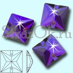 Купите пришивные стразы Purple Velvet Square квадратные