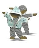 Большой подарочный комплект - зимний медведь - Демонстрационный образец. Одежда для кукол, пупсов и мягких игрушек.