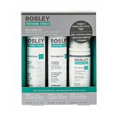 Bosley Воs Defense Starter Pack for Non Color-Treated Hair - Система для нормальных/тонких неокрашенных волос (шампунь, кондиционер, уход)