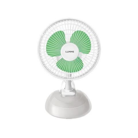 Вентилятор настольный LUMME LU-109 (10шт) белый/зеленый
