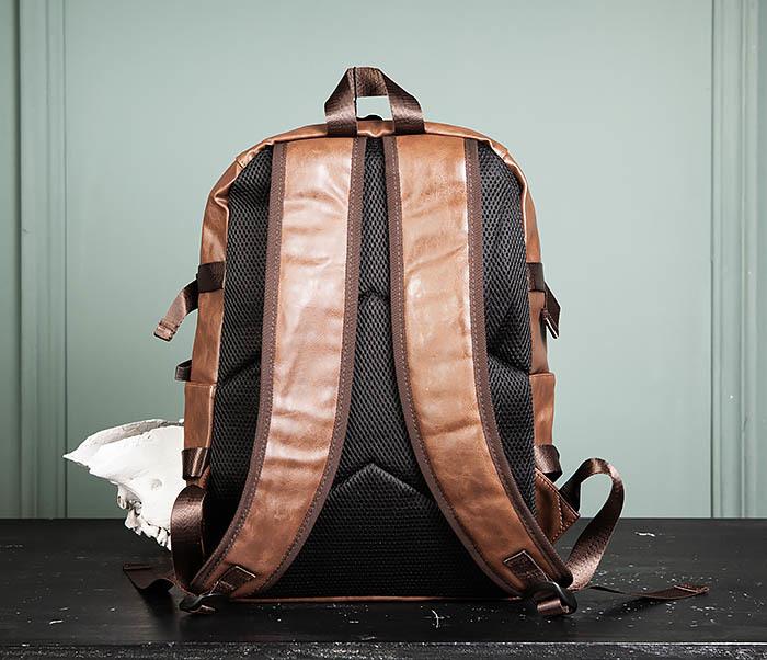 BAG483-2 Повседневный мужской кожаный рюкзак фото 05
