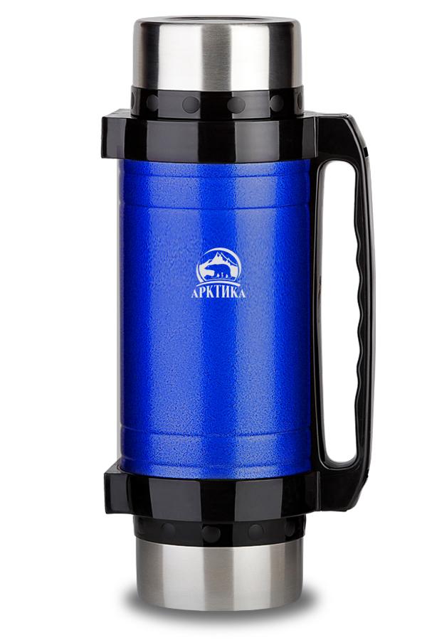 Термос универсальный (для еды и напитков) Арктика (3 л.) с супер-широким горлом, синий