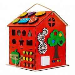 KidClever Бизиборд Развивающий домик со светом