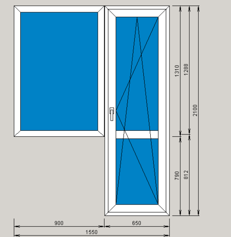 Окно 1550х2100 мм FUNKE (Германия)