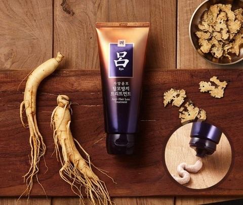 Лечебная маска против выпадения волос с женьшенем, 200 г / Ryo Hair Loss Care Treatment