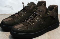 Спортивные туфли мужские осенние Luciano Bellini 71748 Brown