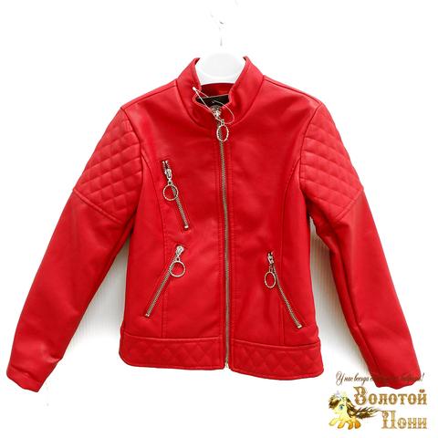 Куртка экокожа девочке (5-10) 200318-W1907.1