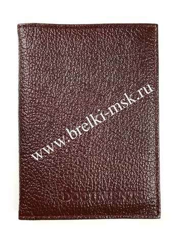 Обложка 2в1 для автодокументов и паспорта из натуральной кожи Флотер. Цвет Бордовый