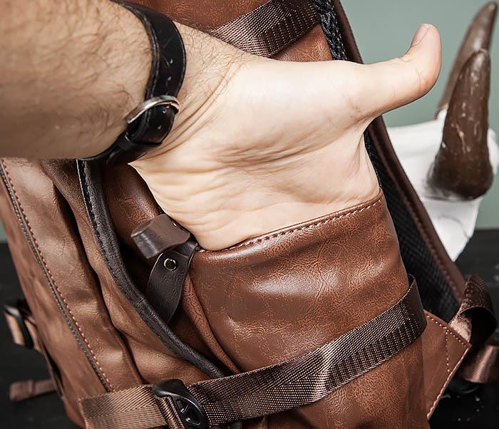 BAG483-2 Повседневный мужской кожаный рюкзак фото 08