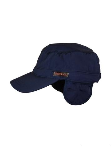 Бейсболка утепленная синяя фото 1