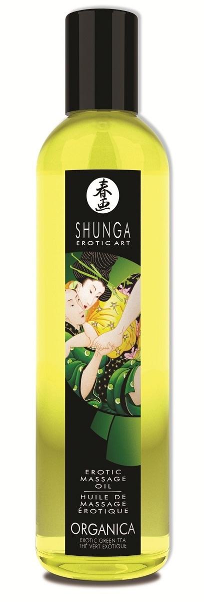 Массажные масла и свечи: Массажное масло Organica с ароматом зеленого чая - 250 мл.