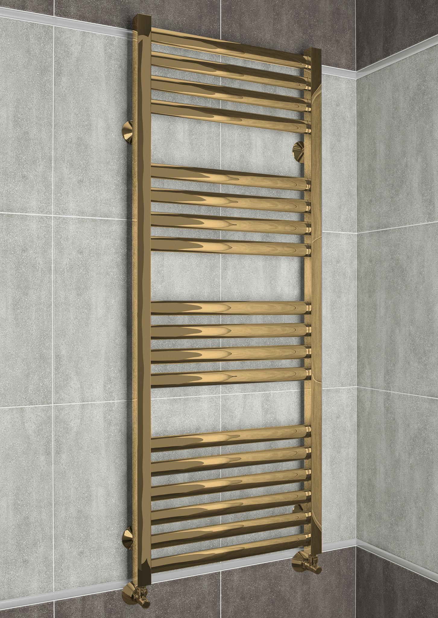Greta Bronze - бронзовый полотенцесушитель с квадратными вертикалями. Бронза.