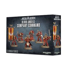 Blood Angels Company Command. Коробка