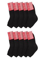 Д11 носки детские, черные (10шт.)