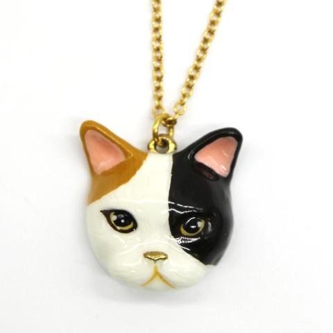 Колье Кошка (трехцветная)