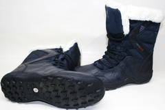 Ботинки кроссовки winter boots adidas climaproof Navy/Dark Gray.