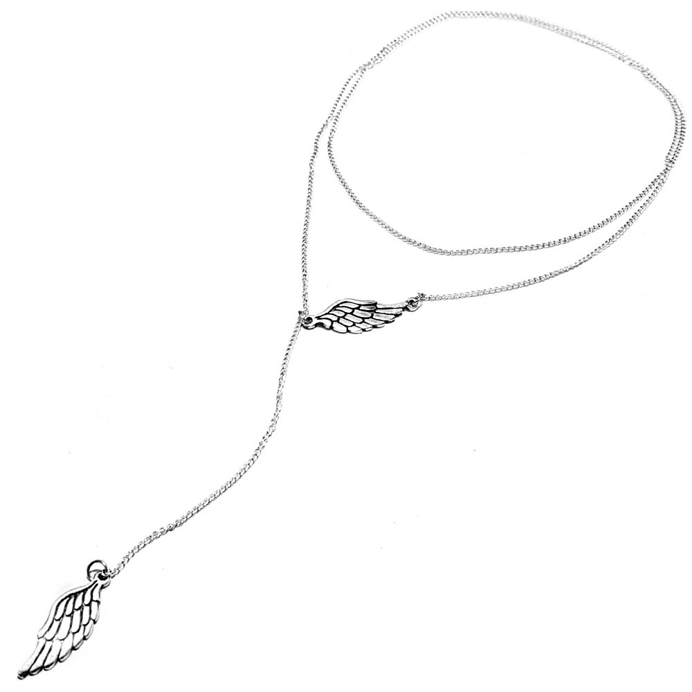 Wings of love, necklace on a chain, sterling silver