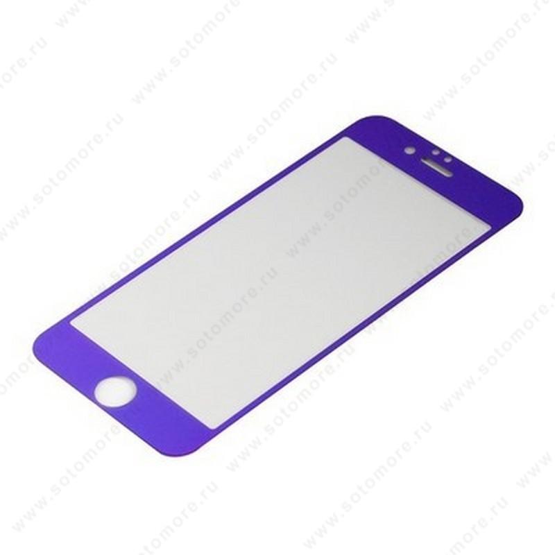 Стекло защитное SOTOMORE для Apple iPhone 6s Plus/ 6 Plus - толщина 0.26 mm в упаковке 2в1 зеркальные голубые
