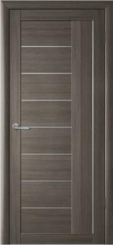 Дверь Фрегат ALBERO Марсель, стекло матовое, цвет серый кедр, остекленная