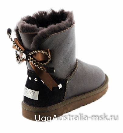 UGG Bailey Braid Metallic Chocolate