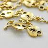 """Подвеска """"Сердце с ключиком"""" 27х12 мм (цвет - античное золото)"""