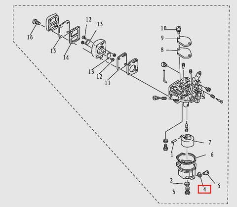 Прокладка для лодочного мотора T9.8 Sea-PRO (5-4)