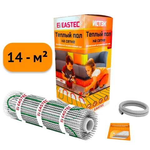 Электрический теплый пол под плитку. Нагревательный мат Eastek ECM - 14.0. (14 кв.м/1920W). EASTEC ECM - 14,0
