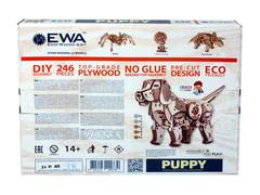 Конструктор деревянный 3D EWA Механический щенок Puppy