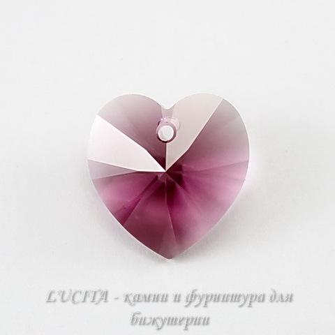 6228 Подвеска Сваровски Сердечко Amethyst (14,4х14 мм)